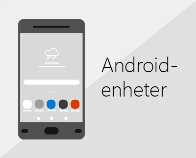 Office och e-post på Android-enheter