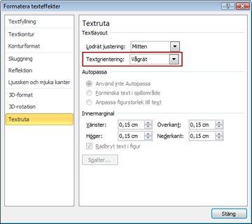 Dialogrutan Formatera texteffekter.