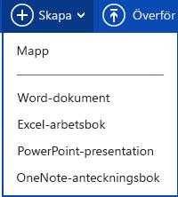 Skapa nytt dokument