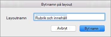 Byt namn på layout för Bildbakgrund i PPT för Mac