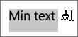Använd den kopierade formateringen genom att dra pekaren över texten