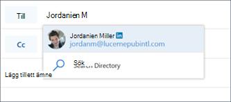 Förslag på LinkedIn-kontakt