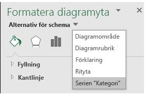 Val av seriealternativ för kartdiagram i Excel