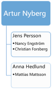 Före: befintligt organisationsschema