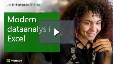Kvinna le Learning guide för Excel