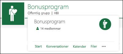 Gruppkort i gruppwebbplats