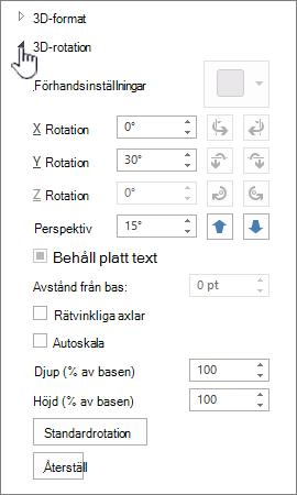 Rotationsegenskaper för 3D