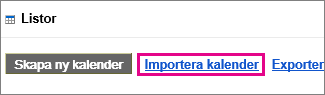 google calendar-aktiviteter – importera kalender
