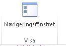 Knappen Visa navigeringsfönstret i Access