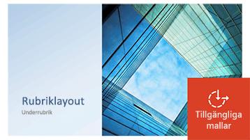 Exempel på en PowerPoint-mall som har uppdaterats till att bli tillgänglig.