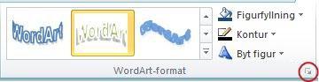 Dialogruteikonen WordArt-Format