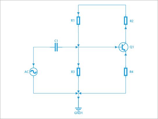Skapa skissa-och kabel diagram och-ritningar. Innehåller former för brytare, reläer, överförings banor, halvledare, kretsar och slangar.