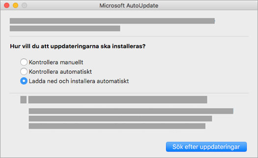 Microsoft AutoUpdate för Mac