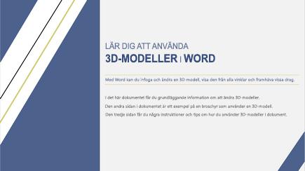 Skärmbild av första sidan i en Word-mall om 3D