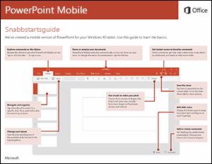 Snabbstartsguide för PowerPoint Mobile