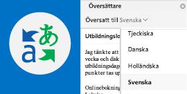 Läs e-post i Outlook på det språk du föredrar