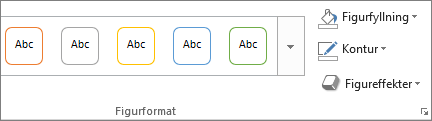 Format på fliken Format