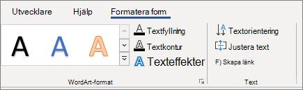 WordArt-textalternativ