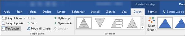 SmartArt-verktyg, Design och Format