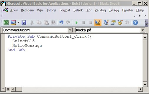 En subprocedur i Visual Basic