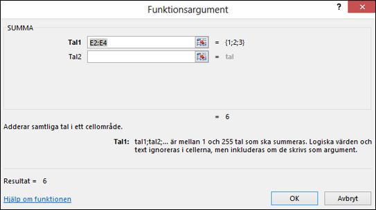 Funktionsguiden i Excel
