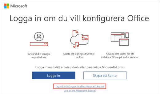 Visar länken du klickar på för att ange Microsoft HUP-produktnyckeln