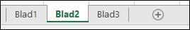 Bild av flikar i ett Excel-kalkylblad