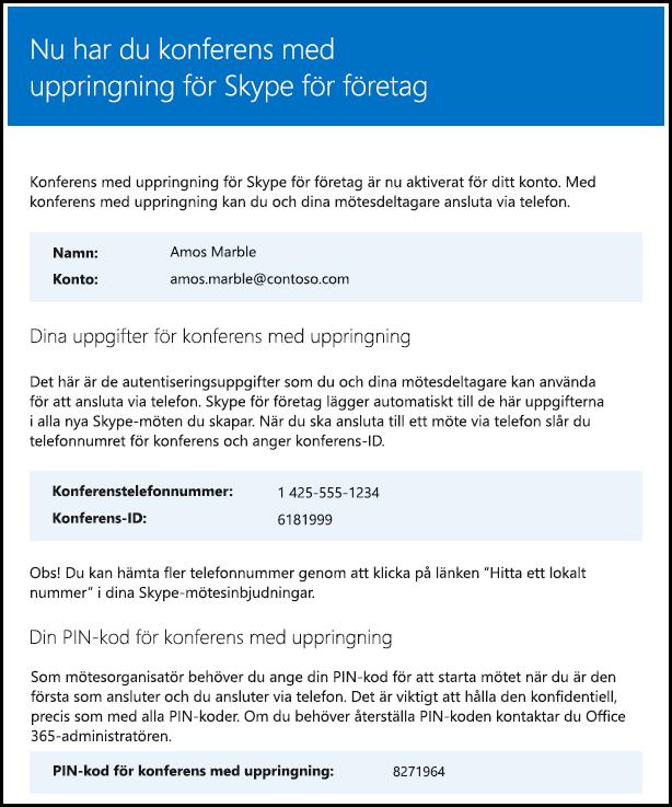 Kontrollera licens för Skype för företag