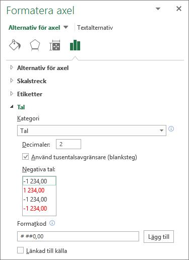 Excel ändra skala vågrät axel