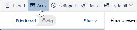 En skärmbild av knappen Arkivera
