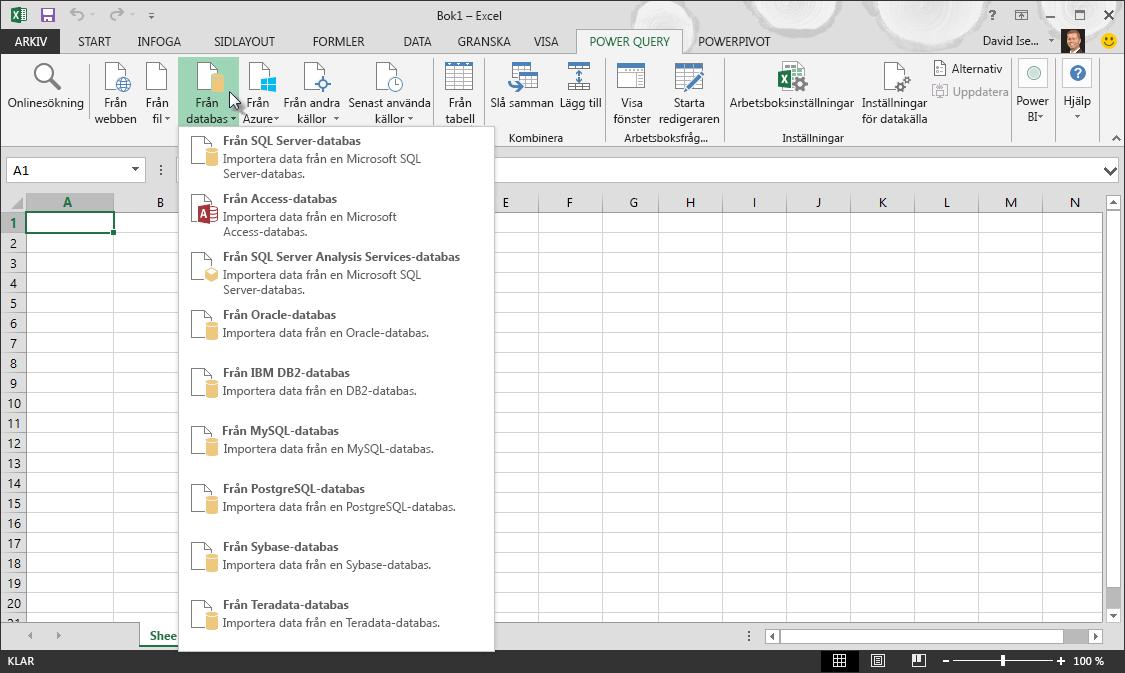 Hämta externa data från en databas
