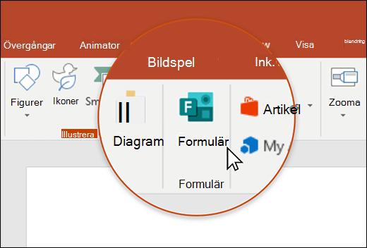 Formulär-ikonen i PowerPoint