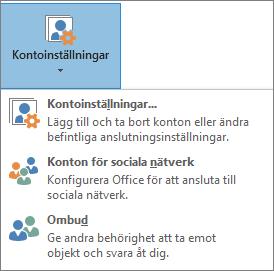 Skärmdump av att lägga till ett ombud i Outlook