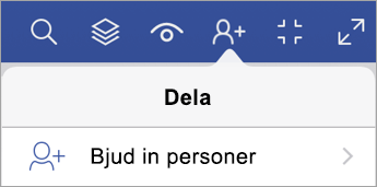 Alternativet för att bjuda in personer i Visio Viewer för iPad