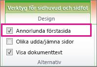 Markera rutan Annorlunda förstasida