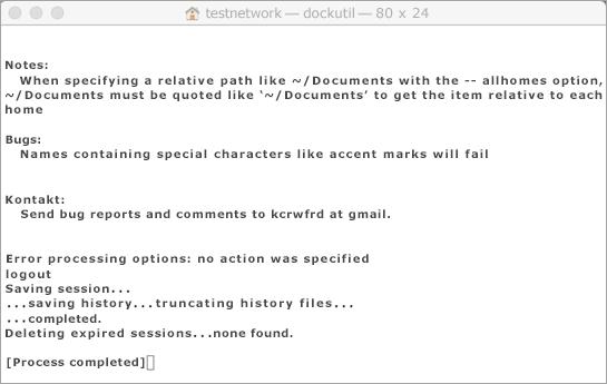 Kör verktyget Dockutil med Ctrl + klicka för att öppna.