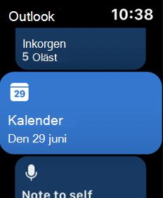 Visar Apple Watch-skärmen