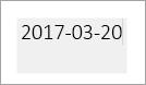 En grå ruta indikerar ett redigerbart datumfält