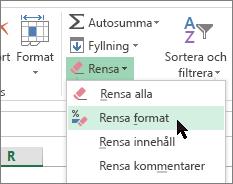 alternativet radera format