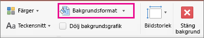 Bakgrundsformat i PowerPoint för Mac