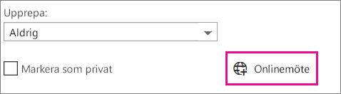 Onlinemöte i Outlook Web App
