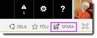 Spara ändringar till en SharePoint Online-webbplats