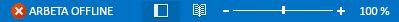 Indikatorn Arbeta offline i statusfältet Outlook