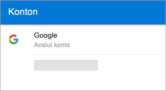 Outlook för Android kan automatiskt hitta ditt Gmail-konto.
