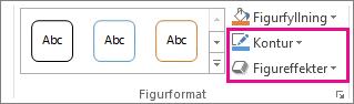 Gruppen Figurformat på fliken Format under Ritverktyg