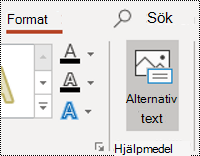 Knappen AltText för en form i PowerPoint för Windows
