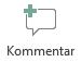 Knappen Infoga kommentar i PowerPoint Online