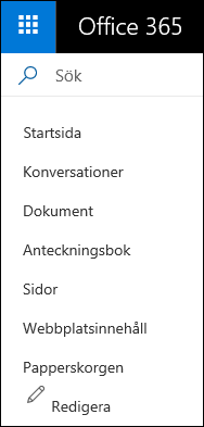 SharePoint vänster nav