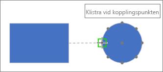 Målformen visar beskrivningen: Limma mot kopplingspunkt