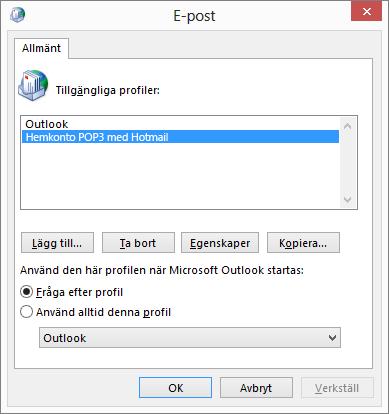 Profil kontodialogruta